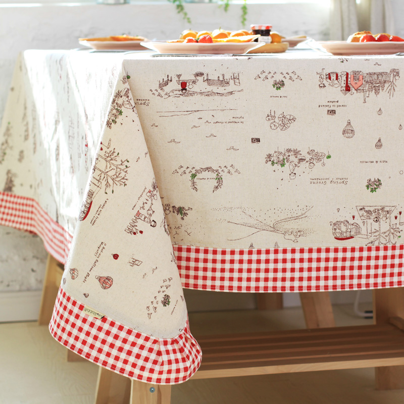 Mr. rabbit] [close to nature made of cotton lace tablecloth bugaboo coffee table can be given mr. rabbit petty life