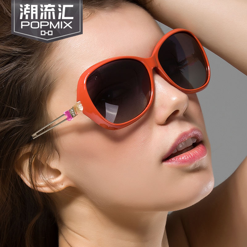 Ms. 2015 new authentic sunglasses female big frame polarized sunglasses european and american retro sunglasses influx of people driving