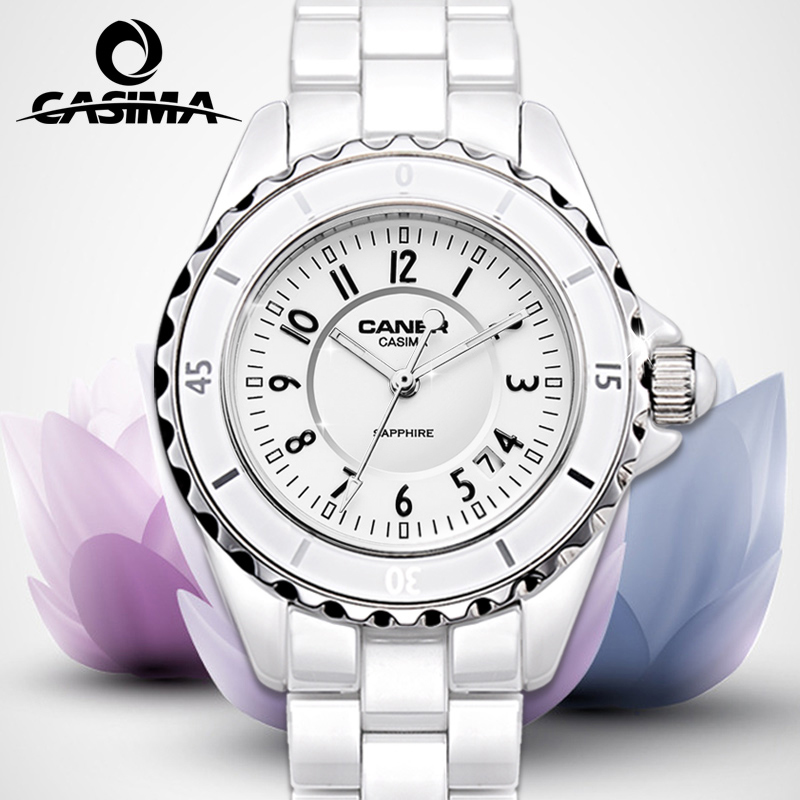 Ms. authentic watches waterproof white ceramic diamond ladies watch korea fashionable student couple tables quartz watch
