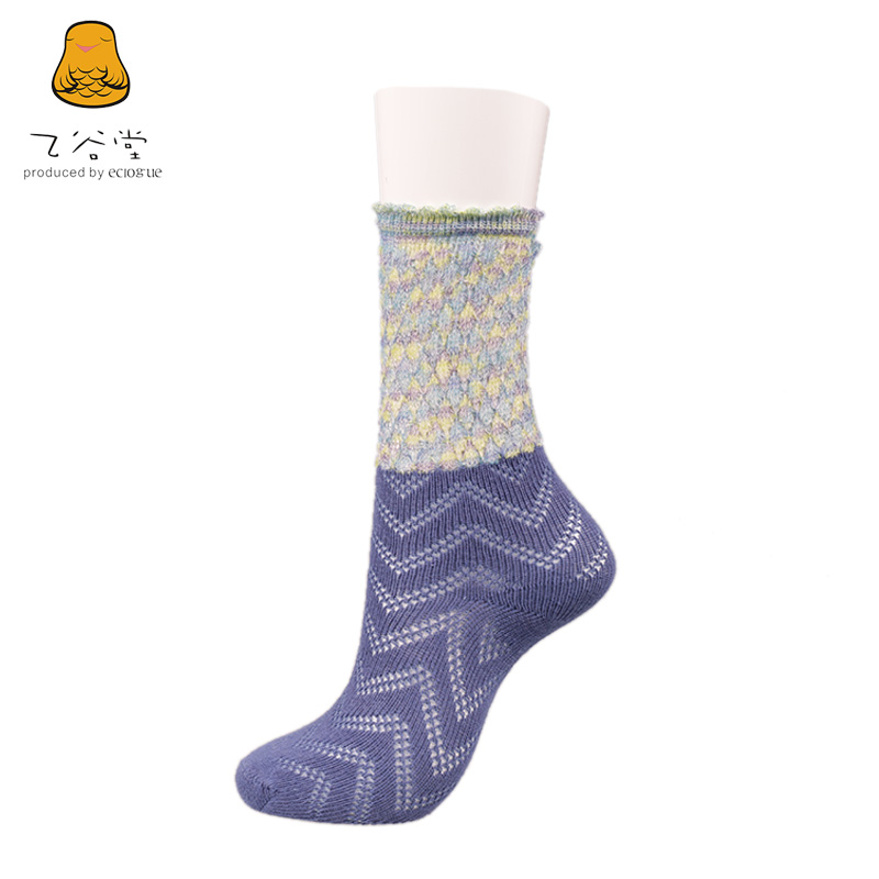 Ms. autumn new british fashion hit color hollow 100åªmanufacturers valley church falbala humidity and sweat socks cotton socks