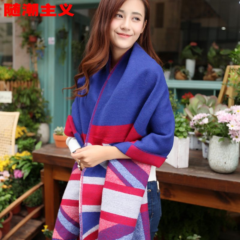 Ms. british style shawl women scarf dual autumn and winter influx of warm autumn and winter fashion union jack scarf in europe and america