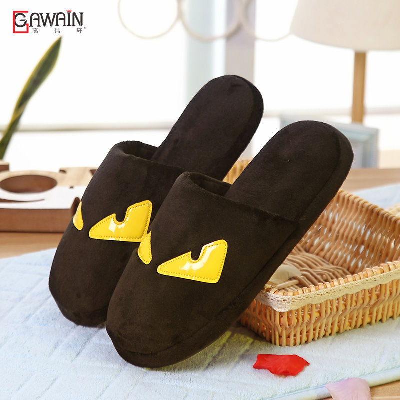 Ms. cartoon couple cotton slippers winter slippers cotton slippers cute female autumn and winter home cotton slippers for men padded