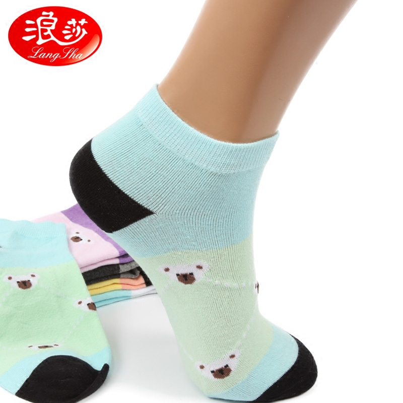 Ms. lang sha sock socks spring and summer low waist thin section shallow mouth socks socks sports socks combed cotton socks