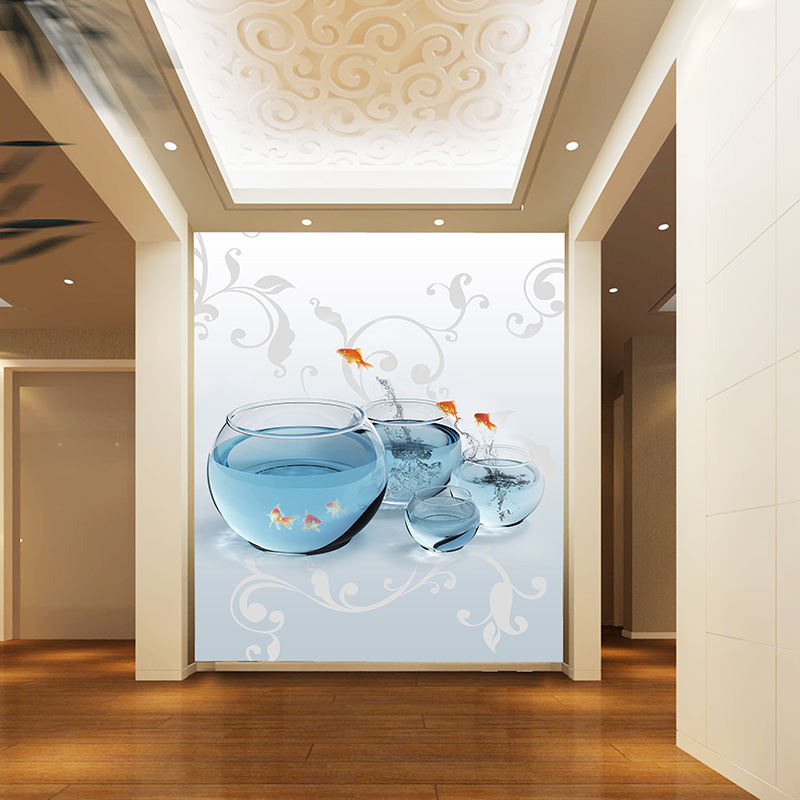 Ms large mural backdrop of modern minimalist entrance goldfish decorative background wallpaper background wallpaper wall covering wallpaper