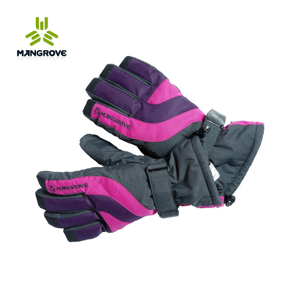 Ms. mange fu mangrove outdoor warm waterproof breathable ski gloves slip gloves female 748