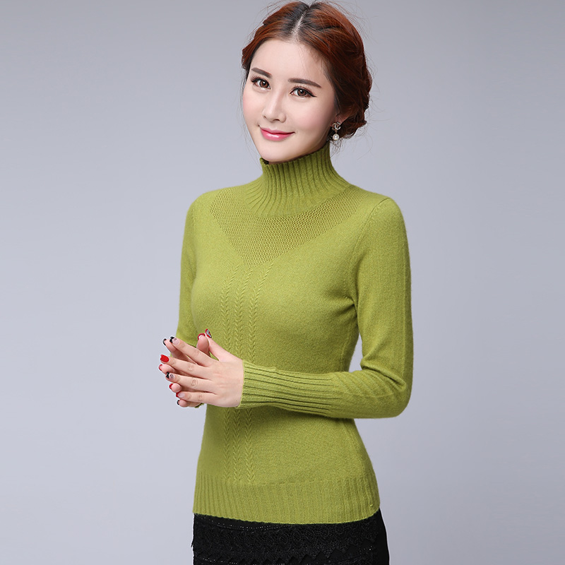 Ms. new winter half turtleneck sweater female korean bottoming hedging thick knit sweater bottoming solid color cashmere sweater