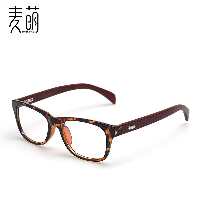 Ms. new wooden leg myopia glasses frames vintage wooden frame glasses frame glasses frame influx of people male flat light frame decorative glasses