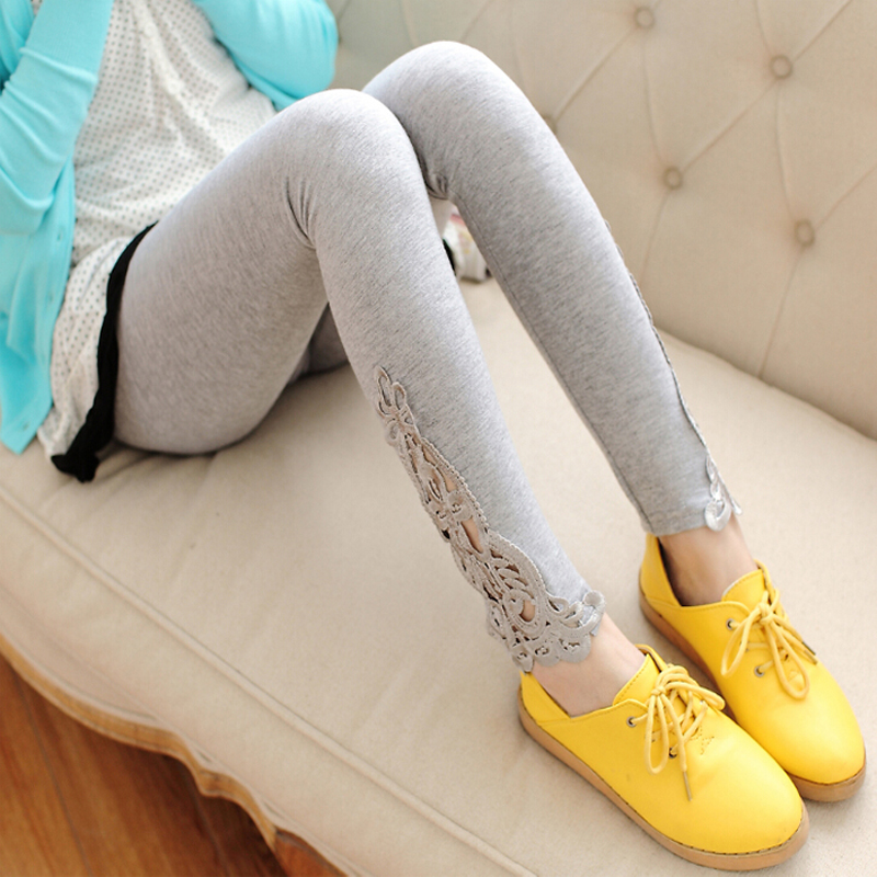 Ms. outer wear thin section autumn pantyhose summer paragraph slim was thin waist black leggings stretch pants feet