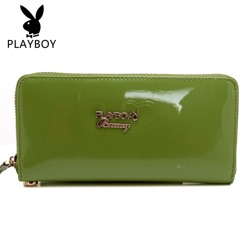 Ms. playboy genuine leather wallet long section clutch bag korean fashion women wallet clutch bag zipper bag