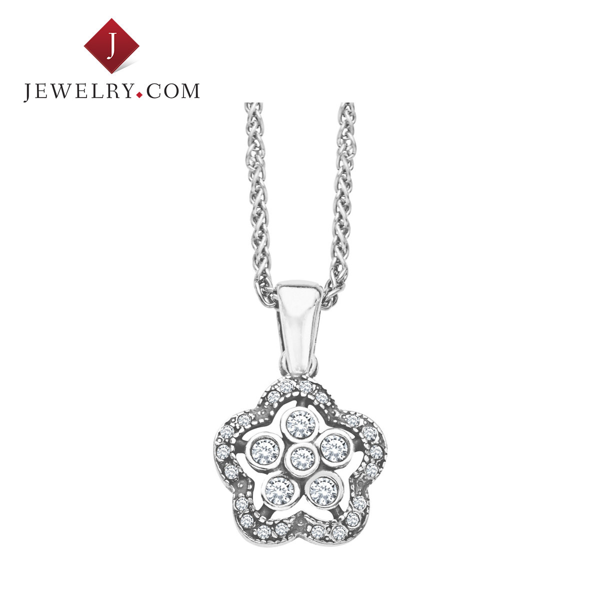 Ms. van kempen beautiful flower 925 silver swarovski crystal pendant elegant charm wind