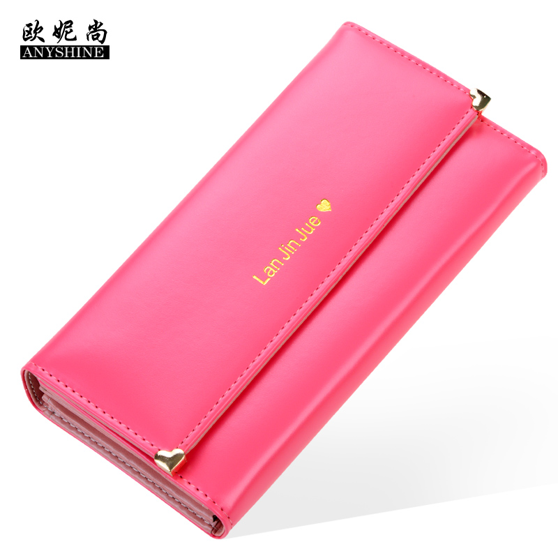 Ms. wallet female long section of thin leoni still handbags korean fashion tide student purse wallet cross section 2016 japan and south korea
