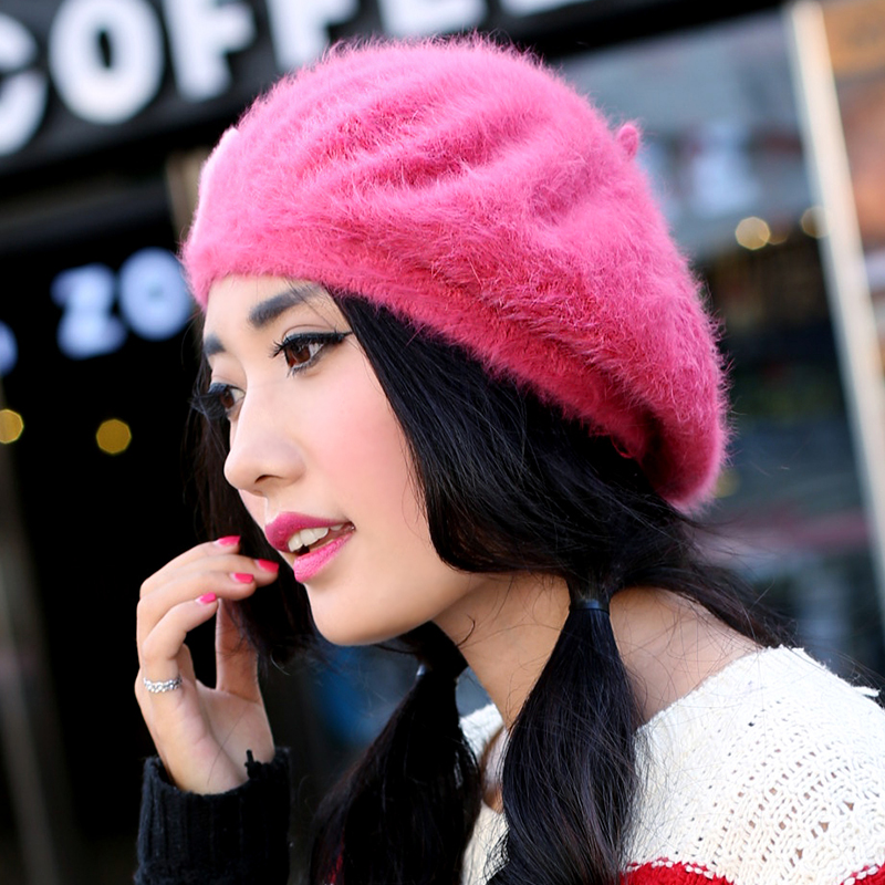 Ms. warm beret knit sweet rabbit fur winter 2015 autumn and winter millinery cap maozi millet wright