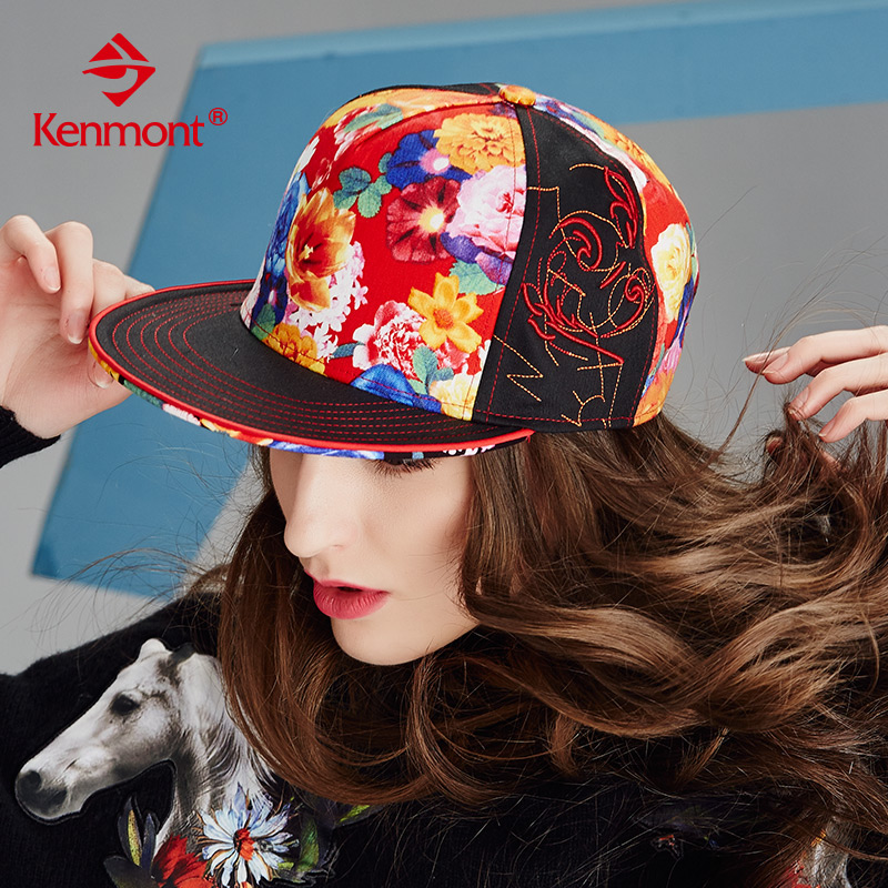 Ms. winter hat flat brimmed hat hip-hop hat female autumn and winter fashion printing korean version of the rod ball cap hip-hop hat cap