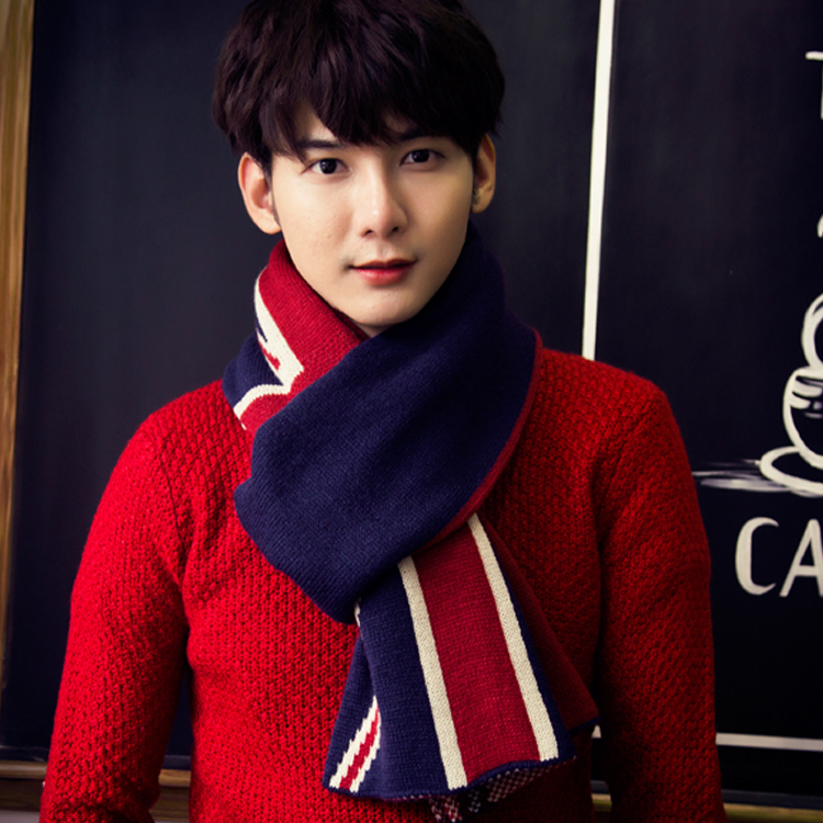 Ms. winter long section of thick wool scarf knitted scarf autumn and winter influx of male style lovers korean large shawl scarf