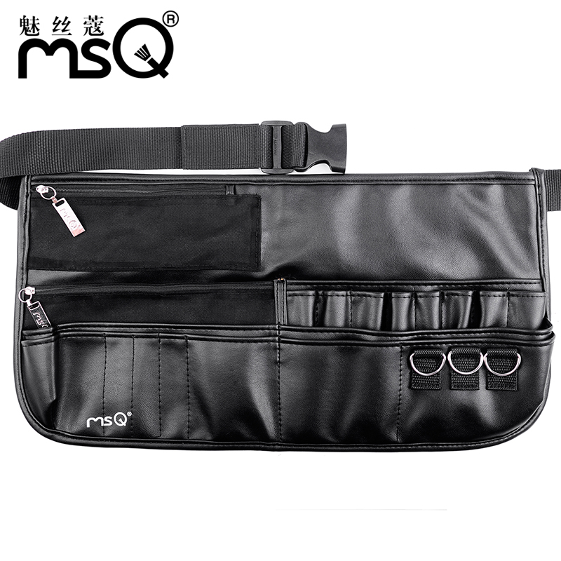 Msq/charm wire kou simulated leather dedicated makeup artist professional makeup brush package makeup empty pockets large capacity bag