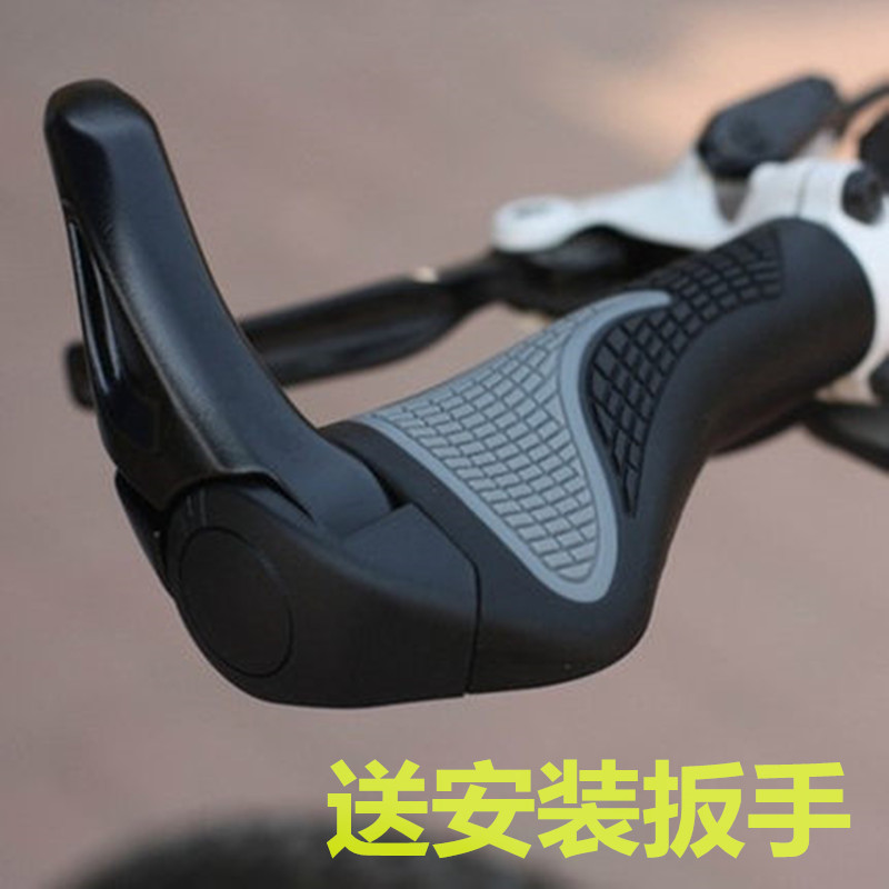 Mtb bicycle rubber handle grips aluminum deputy to claw meat ball bicycle accessories and equipment