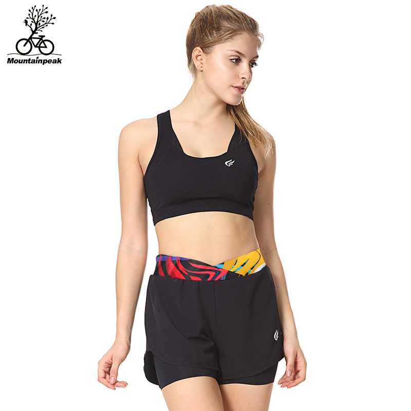 Mtp 2016 running shorts female summer with lining anti emptied wicking sports and fitness marathon shorts hit the color