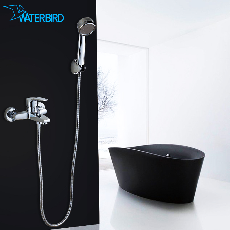 Mu bird bathroom supercharged handheld showerhead shower simple shower set concealed shower mixing valve faucet hot and cold all copper body
