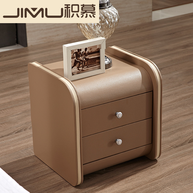 Mu plot furniture modern leather bedside cabinet stylish simplicity bedroom nightstand drawer bedside cabinet storage cortex