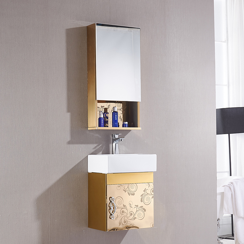 Mu yan stainless steel mini small apartment bathroom cabinet bathroom cabinet bathroom wash basin sink basin combination
