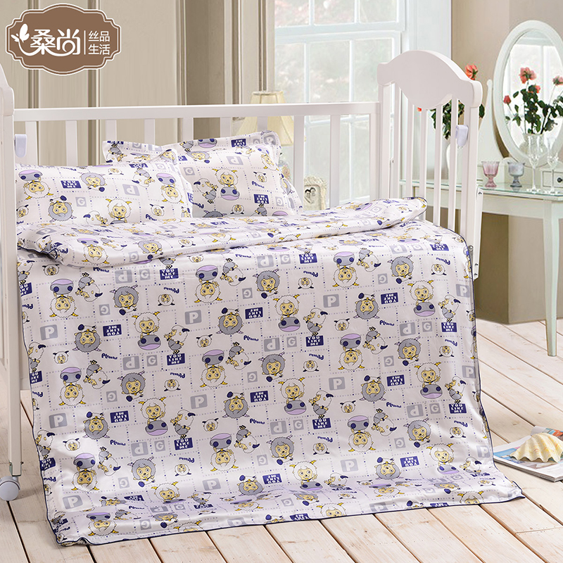 Mulberry silk is still 100% mulberry silk silk silk baby quilt baby cartoon children beds on supplies special offer free shipping