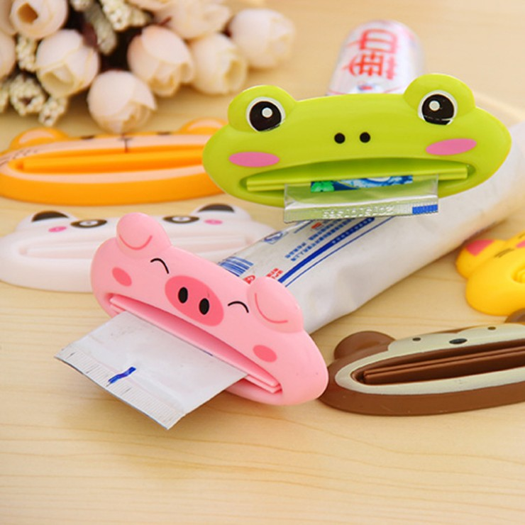 Multifunction creative cute cartoon animals korean version of the manual squeezing toothpaste dispenser cleanser squeezer hand cream