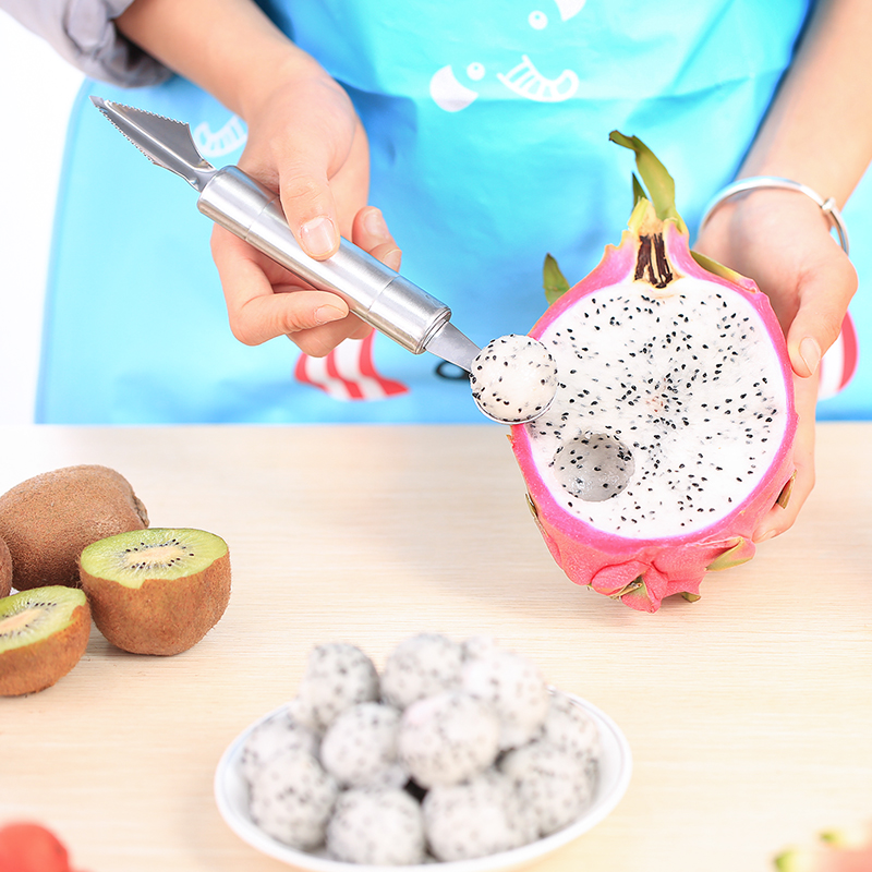 Multifunction stainless steel cut fruit spoon to dig the ball is open fruit is watermelon ice cream scoop ice cream popsicle can be carved