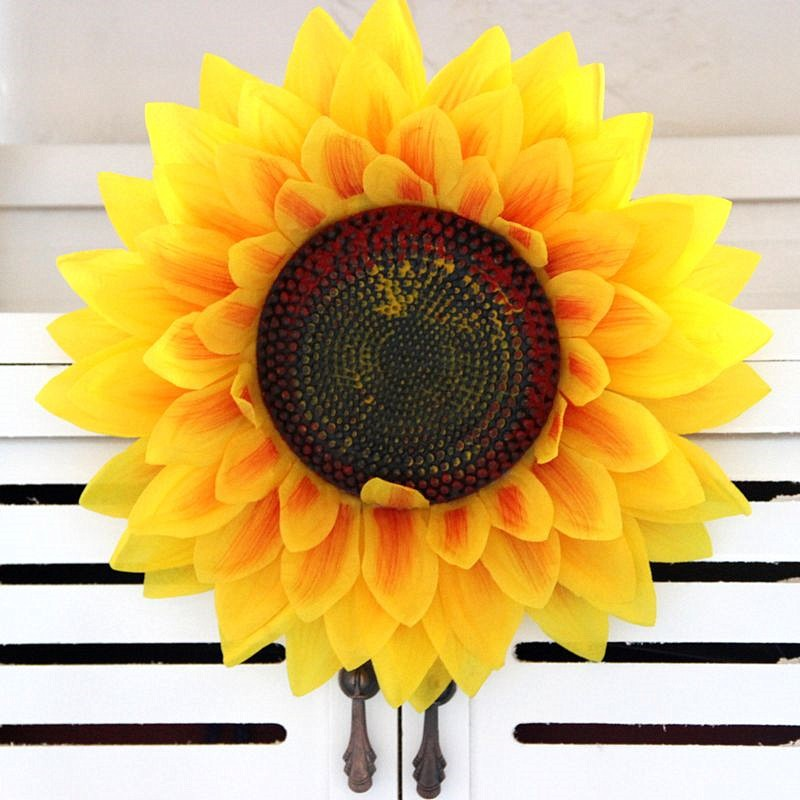 Multilayer sunflower sunflowers artificial flowers single flower petals hand flower nursery table play props wholesale