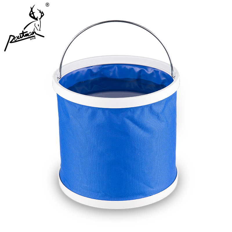 Multipurpose folding telescopic fishing bucket bucket bucket folding bucket outdoor oxford cloth bucket car wash bucket