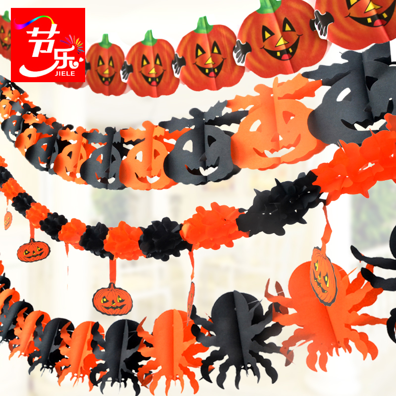 Music festival halloween triangular brace pull the flag pennant banners garland mall cinema ktv bar shop schools decorative cloth