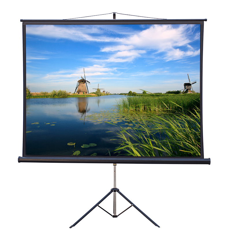 Music star 100 inch 4:3 mobile portable projector screen projection screen bracket