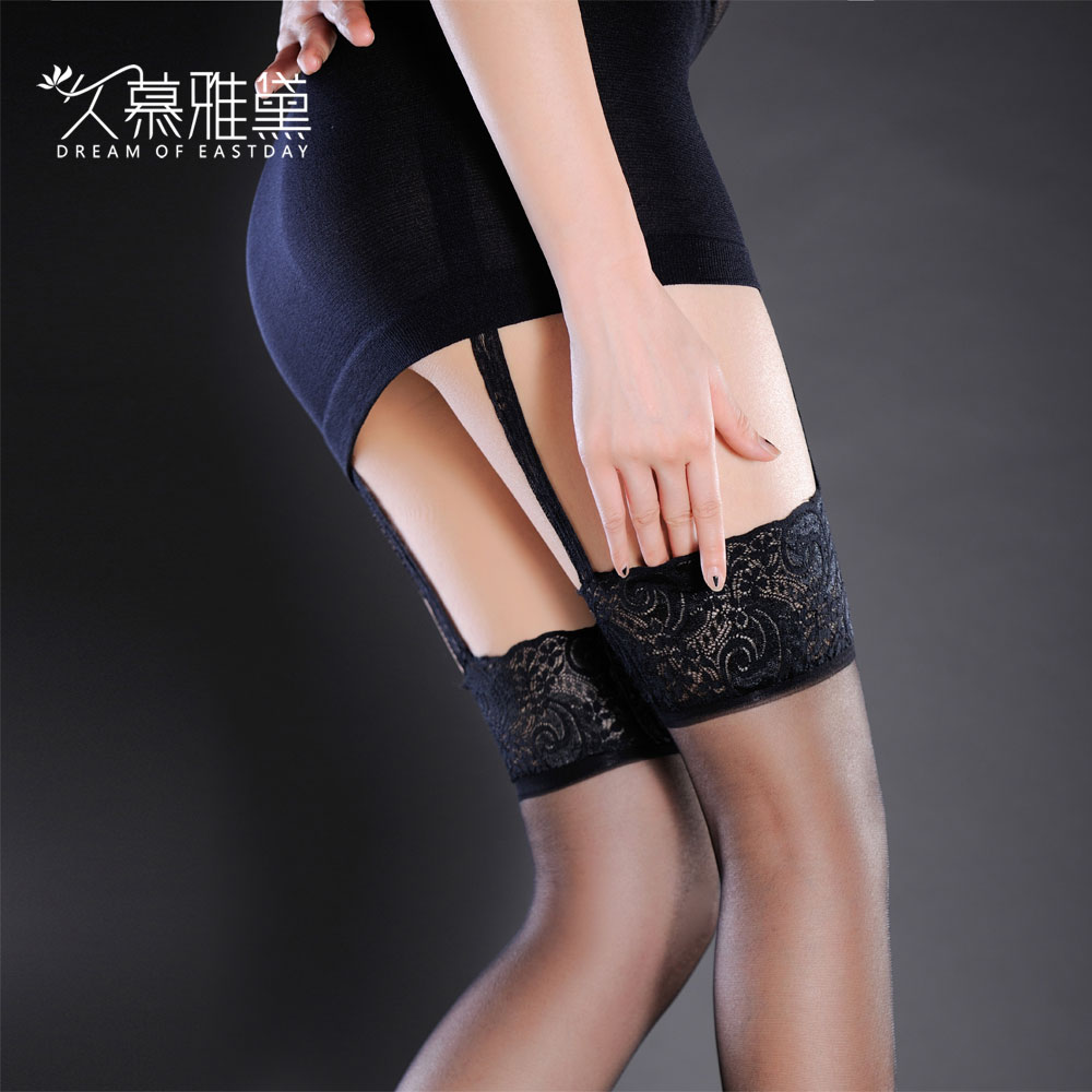 Muya dai long sexy lace open file fishnet stockings garters suit sexy temptation black silk stockings summer slim