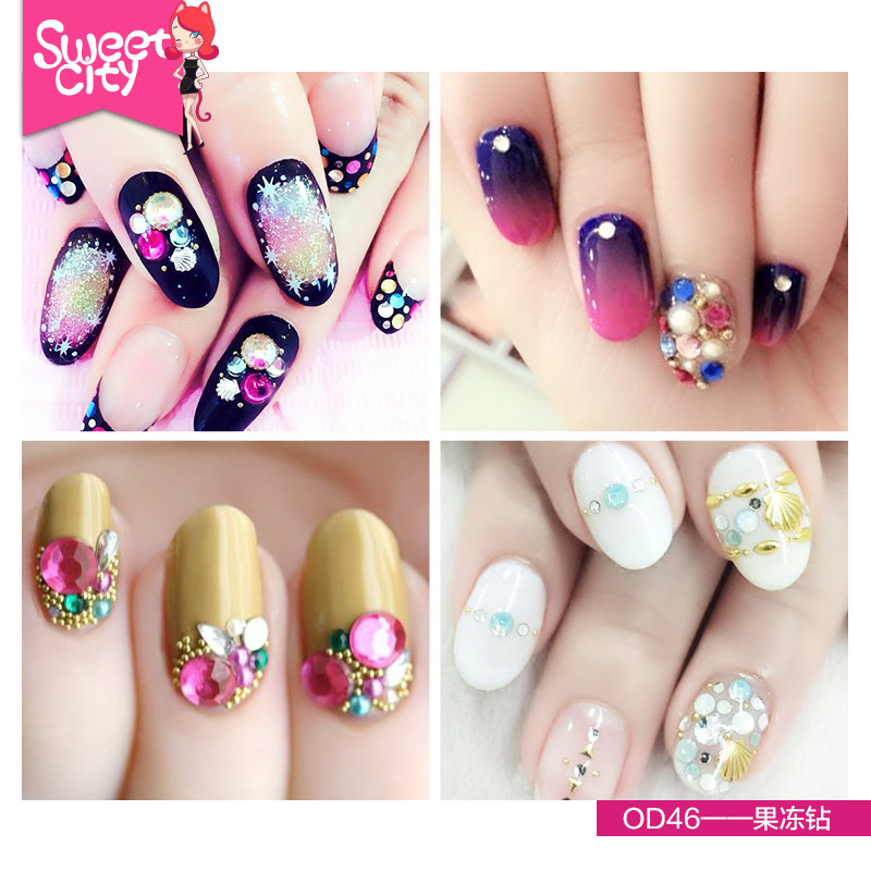 Nail stickers diamond drill acrylic diamond jewelry box fight urban sweetheart/bubble nails nail jewelry diamond/flash diamond