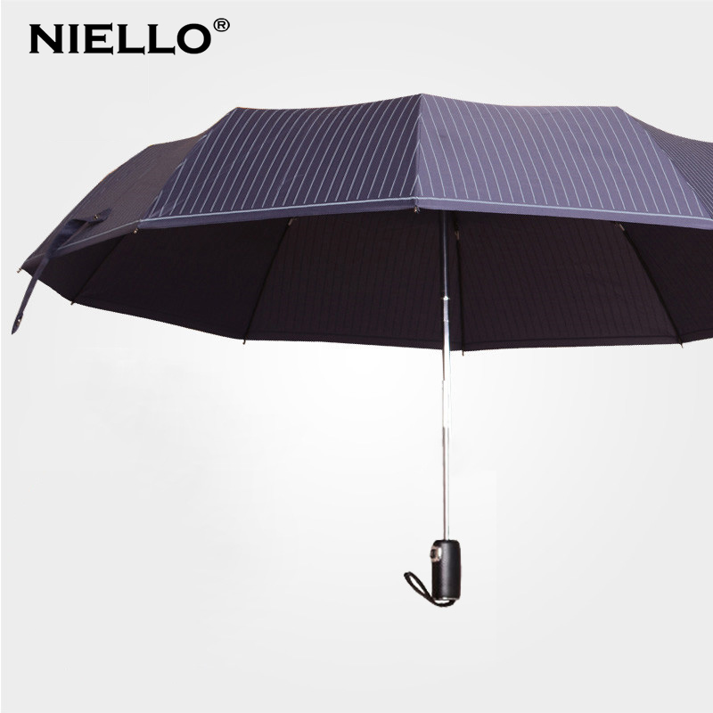 Nailuo 10 bone reinforcement men oversized umbrella double umbrella business umbrella folding umbrella automatic umbrella automatic umbrella korea creative