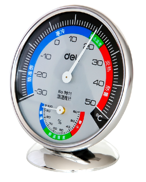 National shipping deli/deli 9011 indoor and outdoor hygrometer stand up thermometer hygrometer wall