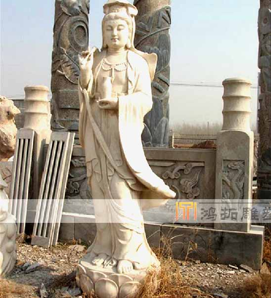 Natural stone marble stone carving gautam buddha avalokitesvara like guanyin sculpture MS753