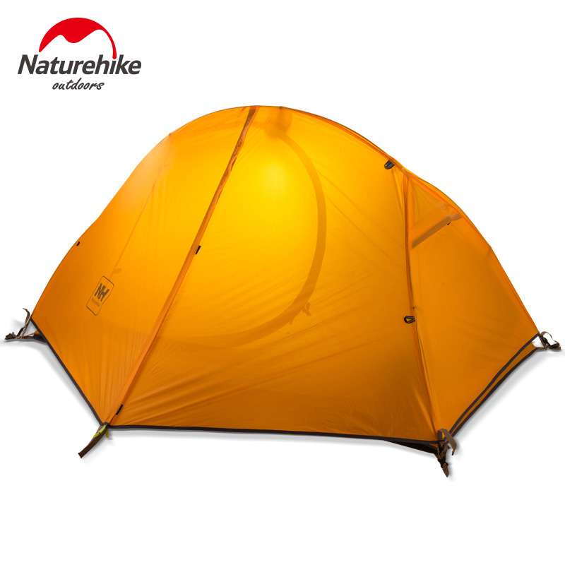 Naturehike-nh single light riding aluminum pole tent outdoor tent 20d silicone anti rainstorm