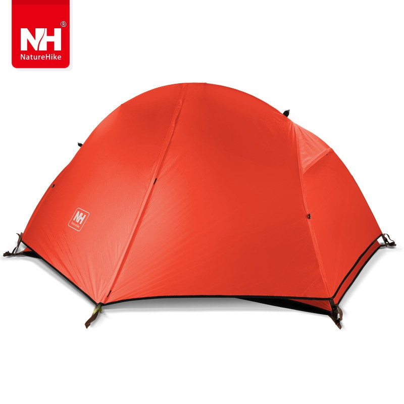 Naturehike-nh ultralight aluminum pole tent outdoor single person riding strong waterproof silicone fabric