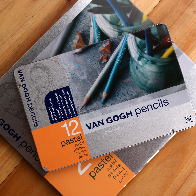 Netherlands terrence van gogh van gogh 12 color 24 color pink color pencil colored pencil tin