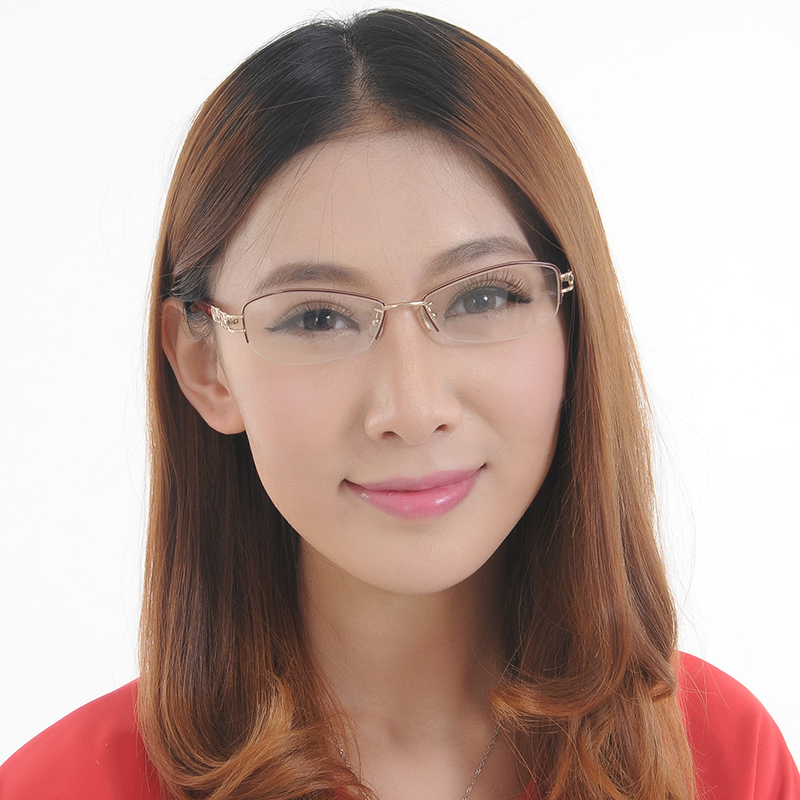 New authentic ports/ports glasses when shang frames frame metal half frame glasses frame female models pof11411