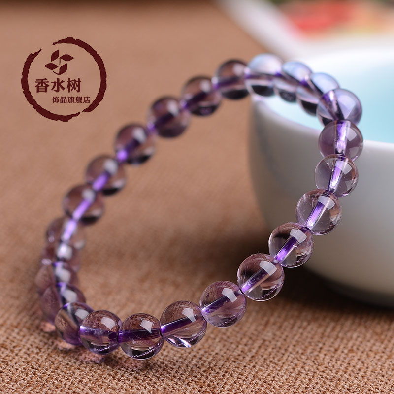 New authentic spot 5a natural amethyst amethyst beads bracelet male and female models jewelry bracelets korean fashion
