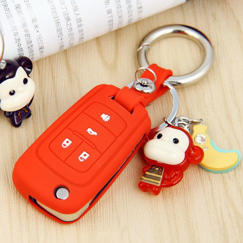 New buick excelle regal lacrosse hideo gt xt ang kela car silicone key cases key sets buckle women modification supplies