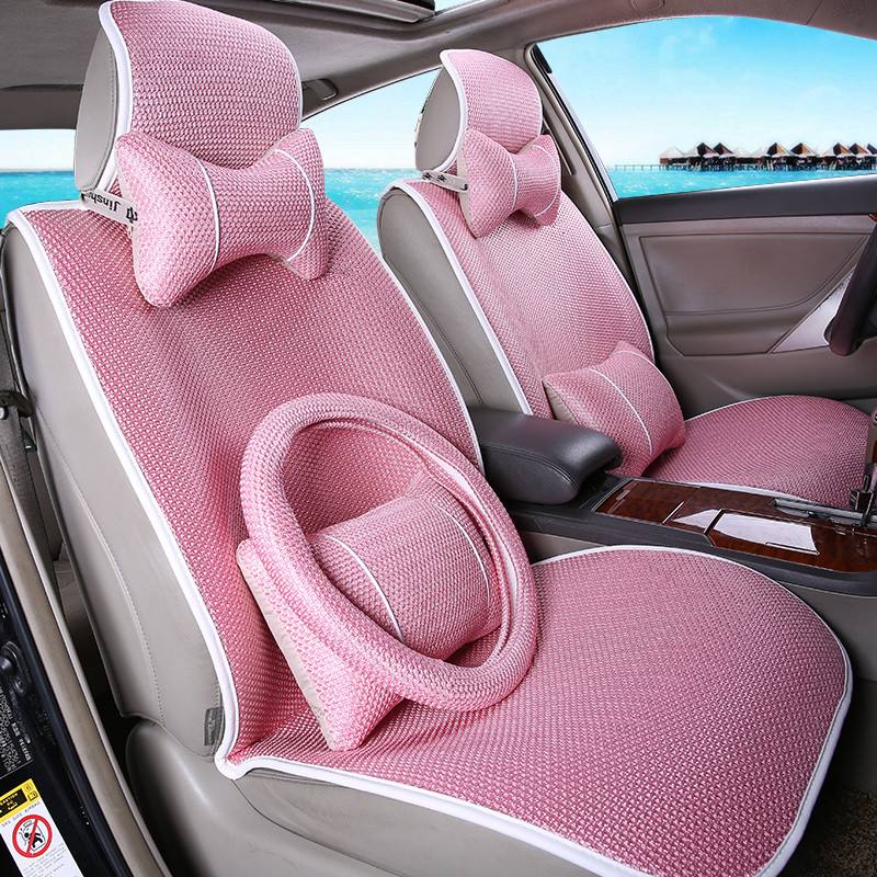 New car seat car seat avoid tying four seasons general car seat car mats ice silk seat cushion summer ice silk cushion