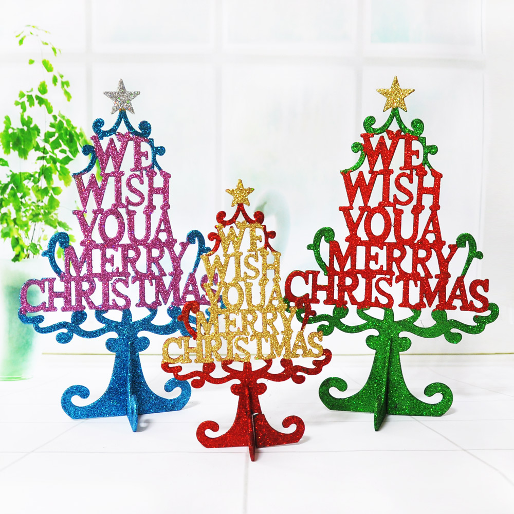 New christmas decorations glitter christmas tree christmas tree ornaments mini pots small desktop swing sets decorative trees