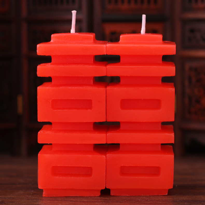 New creative colorful wedding celebration of the new double happiness candle wax romantic hi hi wedding supplies wedding marriage room
