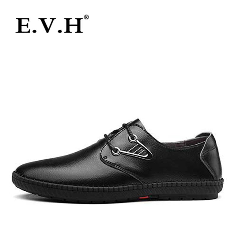 New fall fashion men's business casual office EVH2016 simple wild leather shoes to help low wear and 6340