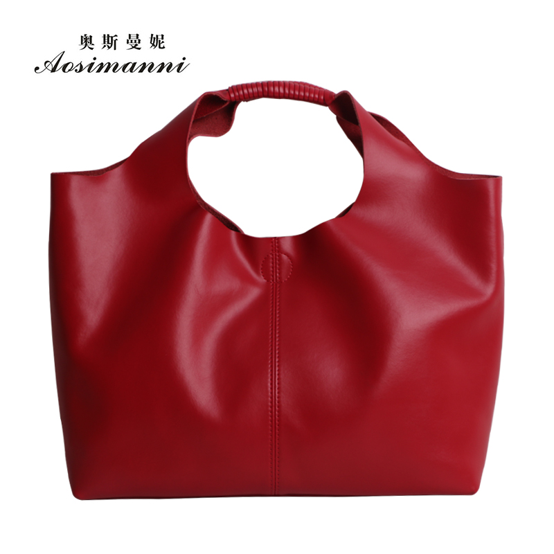 New leather first layer of leather bag picture borderies osmund simple models leather handbags hand diagonal package