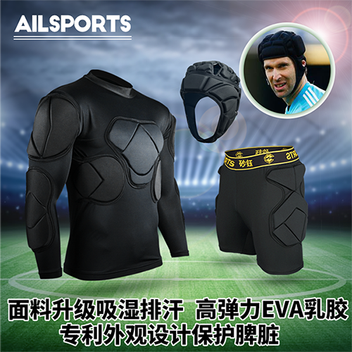 New men's short sleeve long sleeve goalkeeper goalkeeper clothing clothing goalkeeper goalkeeper service gantry clothes suit thicker thicker knee elbow armor