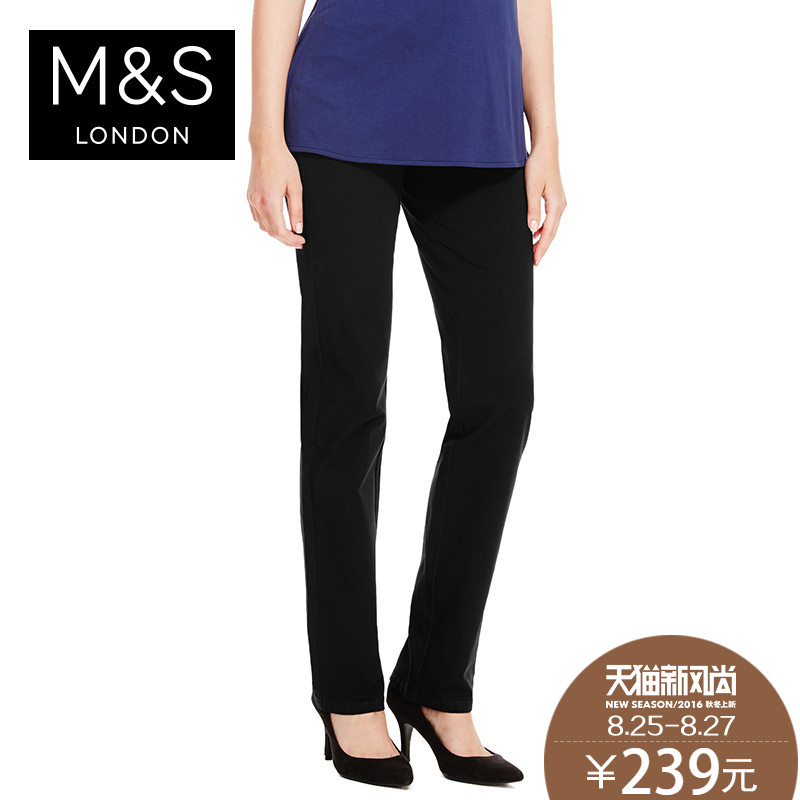 New poly m & amp; amp; amp; s/martha female cotton 4 to stretch straight casual Pants T576831!