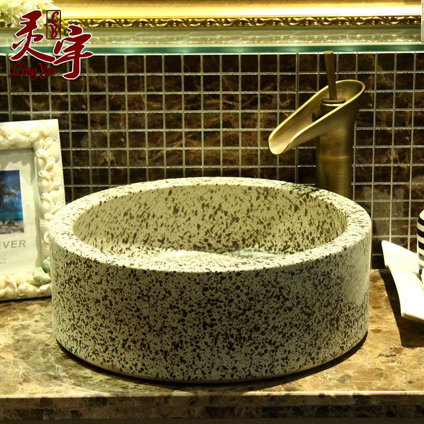 New shipping jingdezhen ceramic art basin basin wash basin wash basin wash basin retro twelve zodiac